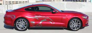 profile of Ford Mustang Side Horse Decals STEED 2015 2016 2017 2018