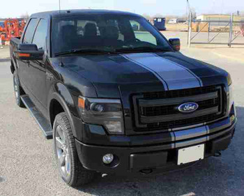 front 2014 Ford F-150 Center Decals 3M CENTER STRIPE 2009-2014