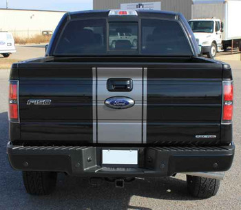 rear 2014 Ford F-150 Center Decals 3M CENTER STRIPE 2009-2014