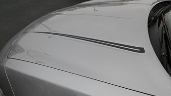 hood of 2015 Dodge Charger Stripe Graphics RIVE 2015-2021
