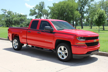 side of red 2018 Silverado Body Stripes ACCELERATOR 2014-2017 2018