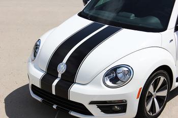 front angle of  VW Beetle Racing Stripes BEETLE RALLY 3M 2012-2016 2017 2018