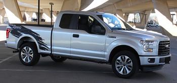 passenger side 2020 Ford F150 Side Graphics Kit TORN 2015-2020