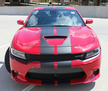 front view Scat Pack Stripes N CHARGE RALLY 2015 2016 2017 2018 2019 2020 2021