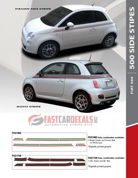flyer for Fiat 500 Italia Side Stripes ITALIAN 2012-2014 2015 2016 2017 2018