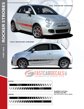 flyer Fiat 500 Abarth Decals ROCKER STROBE 2012-2019
