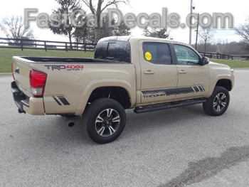 driver side of TRD 4x4 Toyota Tacoma Stripe Package CORE 2016-2019 2020