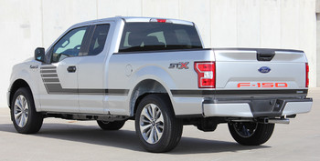 rear angle of 2018 F150 Side Stripes SPEEDWAY 2015-2019 2020