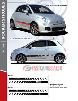 flyer Fiat Abarth Stripes FIAT 500 ROCKER STROBE 2012-2019