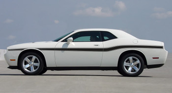 profile of white 2014 Dodge Challenger Body Kit BELTLINE 2008-2021