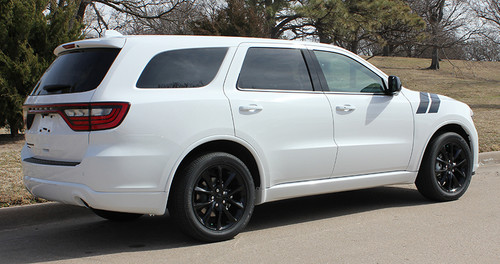 rear angle of 2019 Dodge Durango Fender Stripes DOUBLE BAR 2011-2020 2021