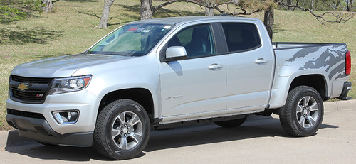 front angle GMC Canyon Side Stripe Decals ANTERO 2015-2021