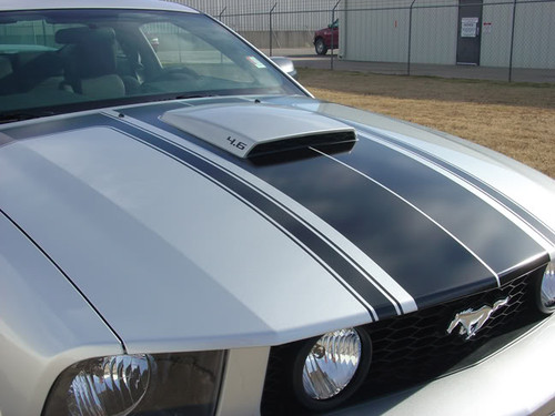 hood view of 2008 Mustang Decals FASTBACK 2 3M 2005 2006 2007 2008 2009