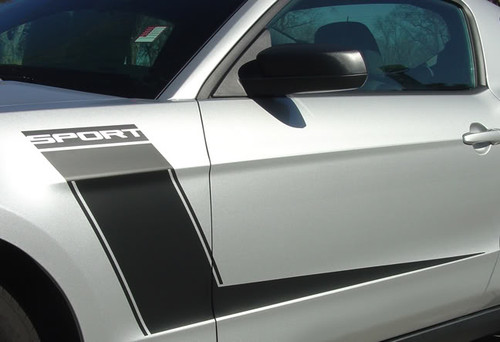close up of BEST! 2010 Mustang Racing Stripes LAUNCH 3M 2010 2011 2012