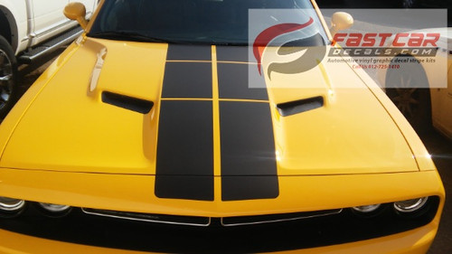 front of yellow 2018 Challenger Blacktop Stripes PULSE RALLY 2015-2019 2020
