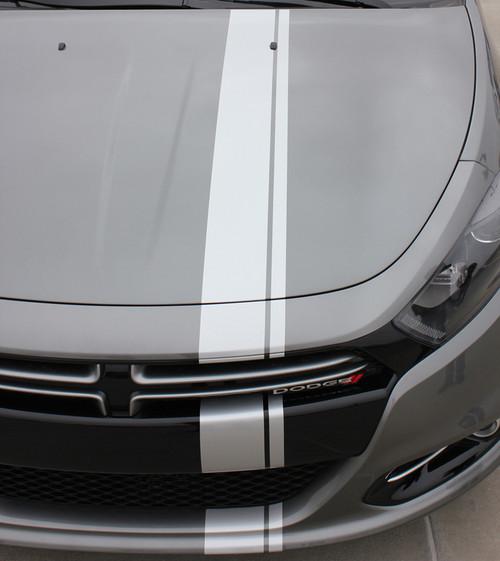 hood view of 2013 Dodge Dart Decals DARTING E RALLY 2013 2014 2015 2016