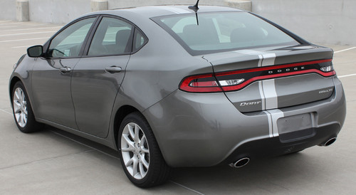 rear angle of 2013 Dodge Dart Decals DARTING E RALLY 2013 2014 2015 2016