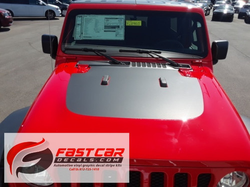 hood of red 2019 Jeep Wrangler Hood Graphics SPORT HOOD 2018-2021