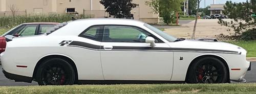 white Shaker 2017 Dodge Challenger RT Stripes DUEL 15 2015-2021