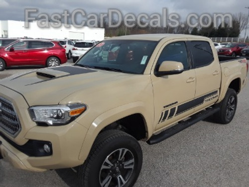front of tan 2019 TRD 4x4 Toyota Tacoma Side Graphics CORE 2016-2020