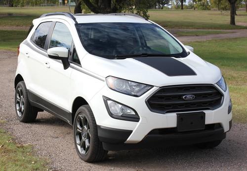 front angle of Side Stripes on Ford EcoSport AMP SIDE KIT 2018-2020