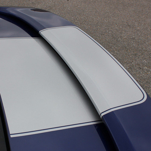 trunk of 2013-2018 Ford Fusion Center Hood Wide Stripes OVERVIEW RALLY
