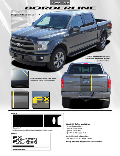 flyer for 2017 Ford F150 Graphics BORDELINE 2015-2018 2019 2020 2021