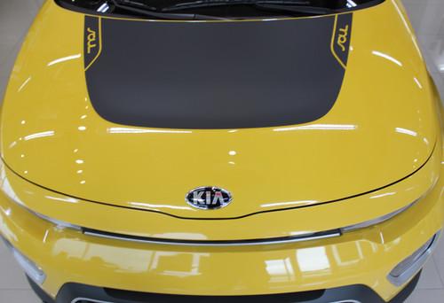 front hood of ALL NEW! 2021 Kia Soul Hood & Side Stripes SOULPATCH 20 2020-2021