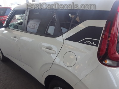 side of white ALL NEW! 2021 Kia Soul Hood & Side Stripes SOULPATCH 20 2020-2021