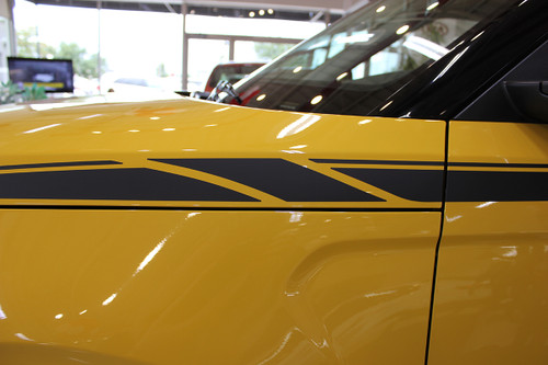 front of yellow 2020 Kia Soul Side Decals OVERSOUL
