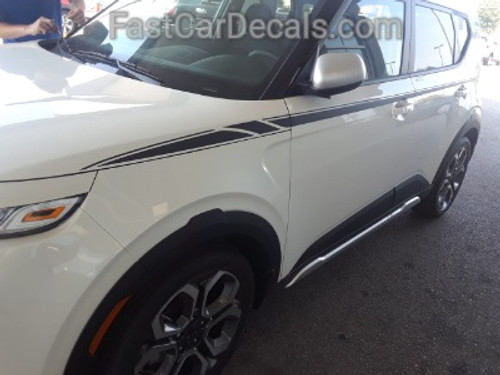 front of white AWESOME! NEW Kia Soul Stripe Package OVERSOUL 2020-2021