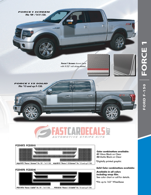 Ford F150 Graphics Package 15 FORCE 1 2009-2017 2018 2019 2020