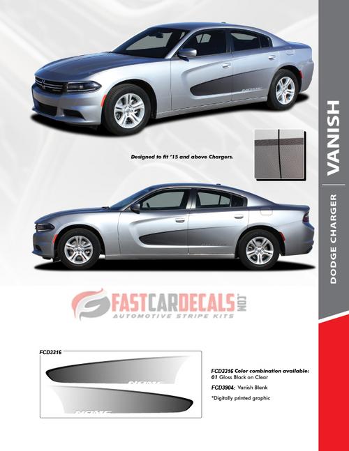 2018 Dodge Charger Side Graphic Stripes VANISH 2015-2020