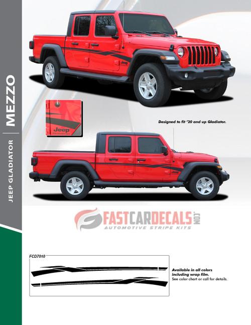 sales flyer for MEZZO SIDE KIT : 2020 Jeep Gladiator Side Decals Kit 2020-2021