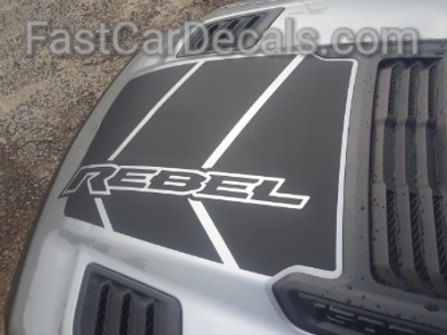 top view of 2019 Ram Rebel Hood Stripes REB HOOD 2019-2021