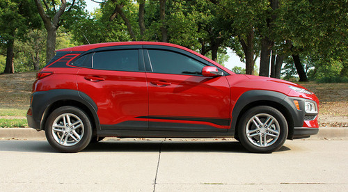 profile of  red Hyundai Kona Stripes SPIRE KIT 2020-2021 Premium Products!