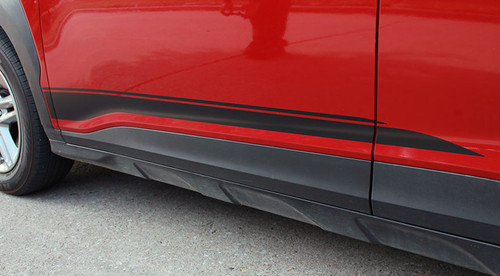 lower side of NEW! Hyundai Kona Stripes SPIRE KIT 2020-2021 Premium Products!