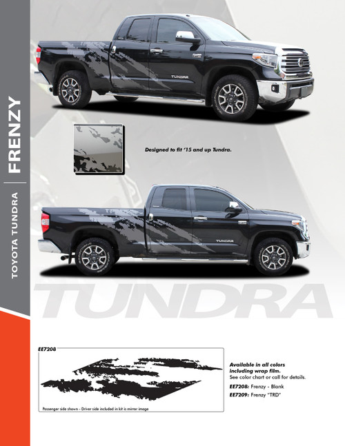 sales flyer of 2015-2021 Toyota Tundra Side Vinyl Graphics FRENZY Premium Products!