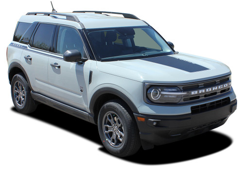 front angle 2021 Ford Bronco Side Stripes LINEAR SIDE 2021 and up All Models