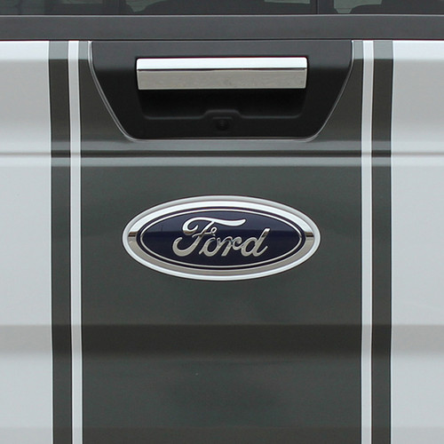 close up tailgate 2017 Ford F 150 Graphics CENTER STRIPE 2015-2017