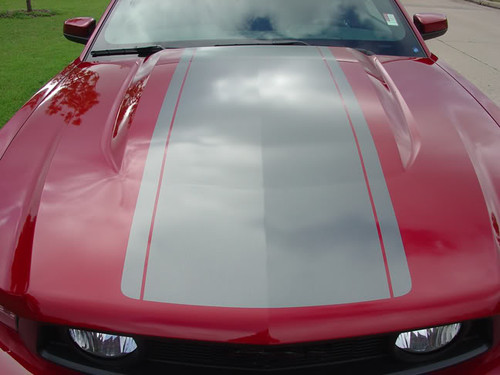 close up red 2010 2011 2012 ford mustang pony center decals PONY CENTER