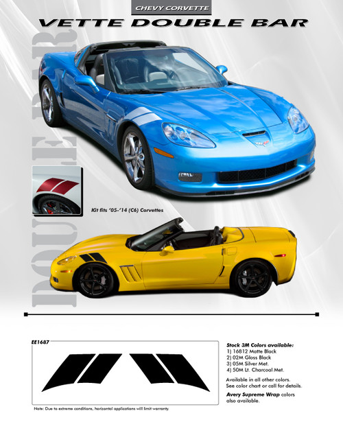 flyer for 2013 Chevy Corvette Fender Stripes DOUBLE BAR 2005-2014