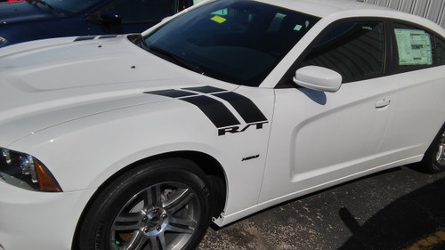 side view of 2019 Charger Fender Stripes CHARGER 15 DOUBLE BAR 2011-2020
