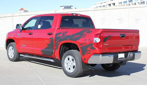 side Toyota Tundra Custom Graphic SHREDDER TRD stripes 2014-2018