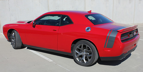 rear angle 2017 Dodge Challenger Rear Stripes TAIL BAND 2015-2020