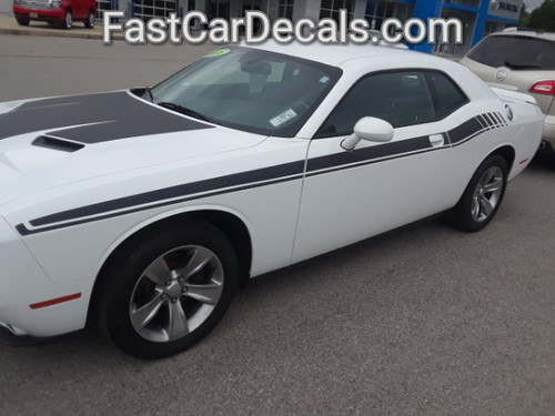 front angle of New Dodge Challenger RT Stripes DUEL 15 2015-2021