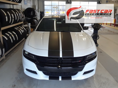 front of FAST! Widebody R/T Dodge Charger Stripes N-CHARGE 15 2015-2021