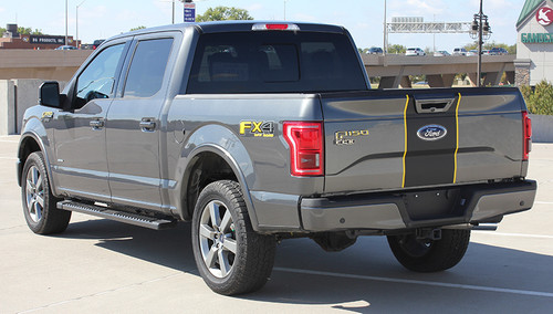rear angle of 2018 Ford F150 Center Decals BORDERLINE 2015-2017