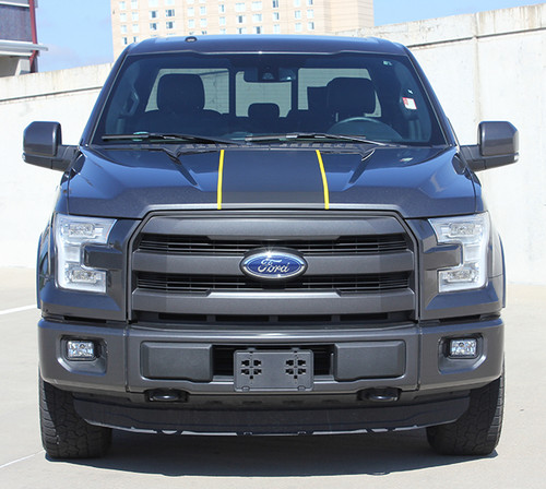 front of 2018 Ford F150 Center Decals BORDERLINE 2015-2017