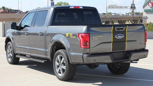 rear angle of 2017 Ford F150 Center Stripes BORDERLINE 2015-2019 2020
